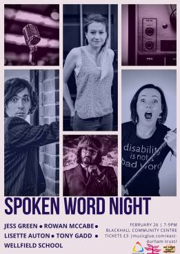east durham creates spoken word night