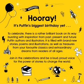 Bright yellow design - Hooray, It's Puffin's Birthday