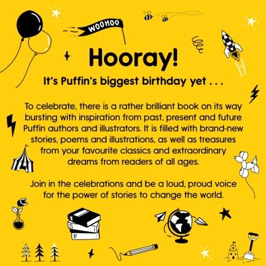 Bright yellow design - Hooray, It's Puffin's Birthday